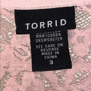 torrid Tops - Torrid size 3 shell pink button up blouse Sheer.